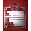 Placa ministerio metalica roja