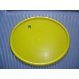 portanumeros ovalado amarillo con agujero