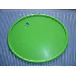 portanumeros ovalado verde con agujero